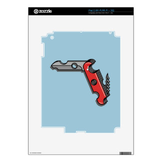 Swiss Cheese Knife Decals For The iPad 2