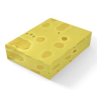 Swiss Cheese Paperweight