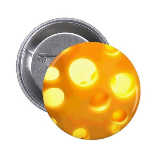 Swiss Cheese Pinback Button