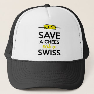 Swiss cheese - Save a Chees eat a Swiss Trucker Hat