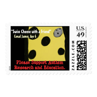 Swiss Cheese with a Friend Postage Stamps