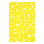 Swiss Cheese Yellow Personalized Stationery