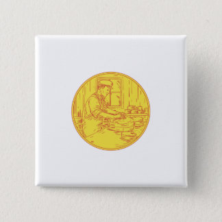 Swiss Cheesemaker Traditional Cheese Circle Drawin Pinback Button