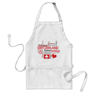 Swiss Chef's Cheese and Fondue I Love Switzerland Adult Apron