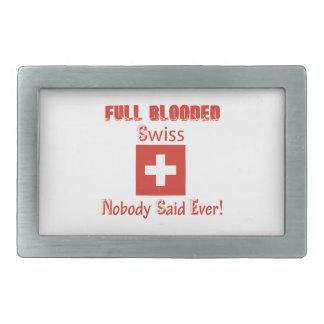 Swiss citizen  design belt buckle