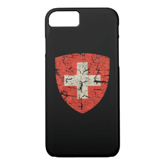 Swiss Coat of Arms Distressed iPhone 7 Case