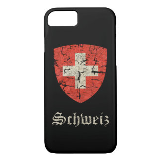 Swiss Coat of Arms Distressed iPhone 8/7 Case