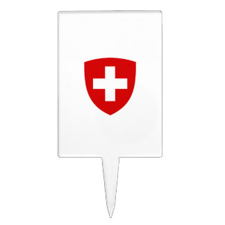 Swiss Coat of Arms - Switzerland Souvenir Cake Picks