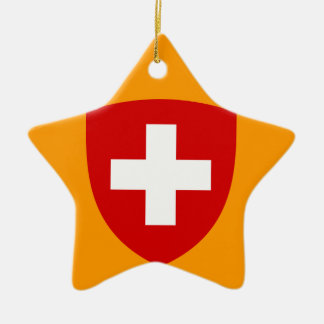 Swiss Coat of Arms - Switzerland Souvenir Ceramic Ornament