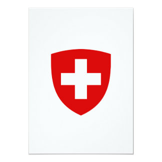 Swiss Coat of Arms - Switzerland Souvenir Card
