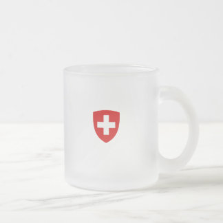 Swiss Coat of Arms - Switzerland Souvenir 10 Oz Frosted Glass Coffee Mug