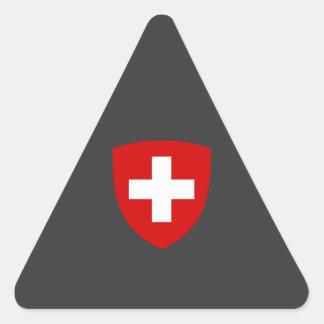 Swiss Coat of Arms - Switzerland Souvenir Triangle Stickers