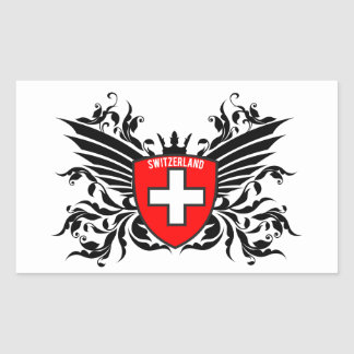 Swiss coats of arms with wing rectangular sticker