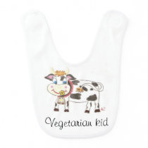 Swiss cow baby bib