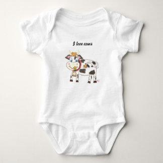 Swiss cow baby Jersey bodysuit