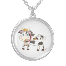 Swiss cow necklace