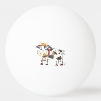 Swiss cow ping pong ball
