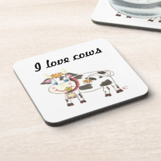 Swiss cow square coasters