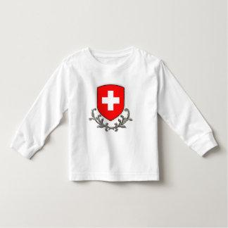 Swiss Crest Kids Lg sleeve Tshirt