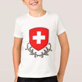 Swiss Crest Kids Ringer T-Shirt