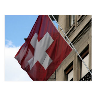 swiss cross flag postcard
