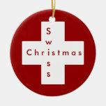Swiss cross ornament