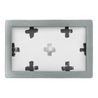 Swiss Cross Pattern Belt Buckle