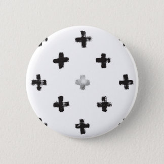 Swiss Cross Pattern Pinback Button
