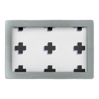 Swiss Crosses Modern Scandinavian Design Belt Buckle