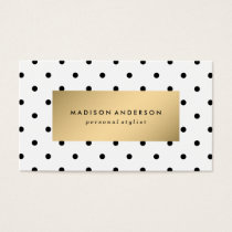 Swiss Dots in Gold | Business Cards