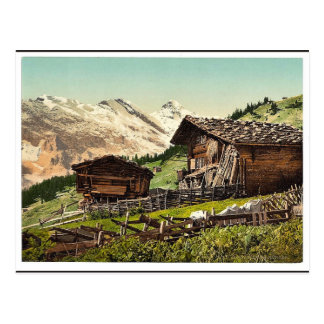 Swiss dwelling, Murren, Bernese Oberland, Switzerl Postcard