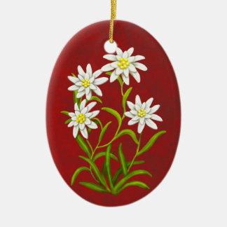 Swiss Edelweiss Alpine Flowers Ornament