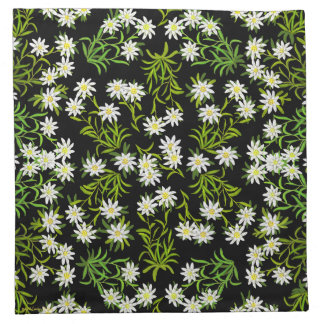 Swiss Edelweiss Alpine Flowers Placemats Napkins