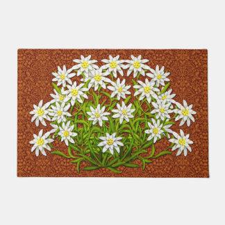 Swiss Edelweiss Mountain Flowers Doormat