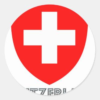 Swiss Emblem Classic Round Sticker