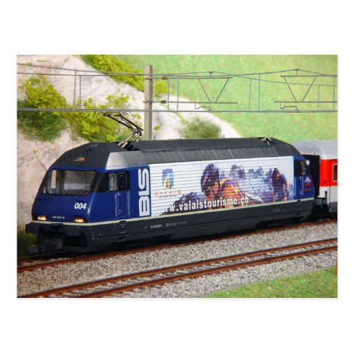 Swiss express train post card