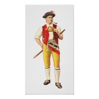 Swiss Farmer from Appenzell Innerrhoden in Costume Poster