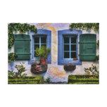 Swiss Farmhouse Windows - European Countryside Stretched Canvas Prints