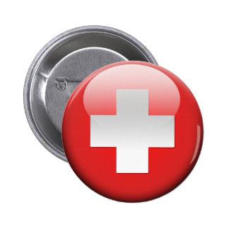Swiss Flag 2.0 2 Inch Round Button