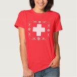 Swiss flag and edelweiss tee shirt