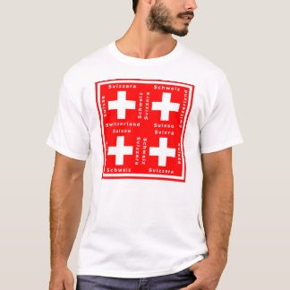 Swiss Flag and Switzerland in Five Languages T-Shirt