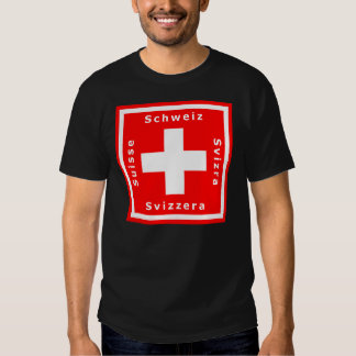Swiss Flag and Switzerland's Four Languages T-Shirt