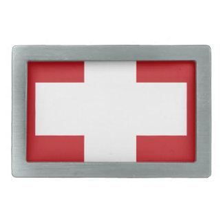 Swiss Flag Belt Buckle