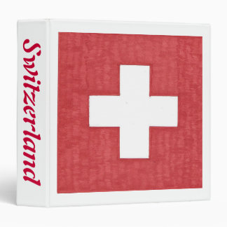 Swiss flag binder