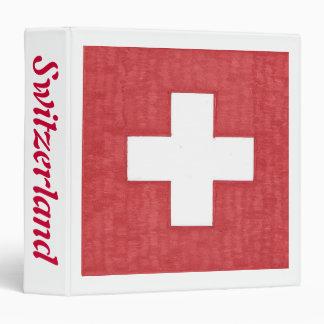 Swiss flag binder