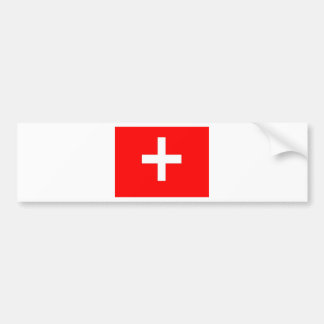 Swiss Flag Bumper Sticker