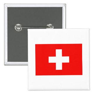 Swiss Flag Buttons