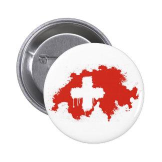 Swiss Flag Pinback Buttons