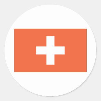 Swiss Flag Classic Round Sticker