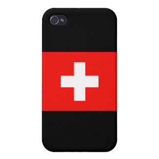 Swiss Flag Cover For iPhone 4